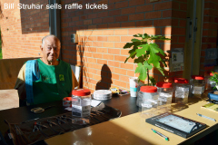Bill Struhar Sells Raffle Tickets