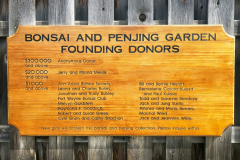 Bonsai and Penjing Garden Founding Donors